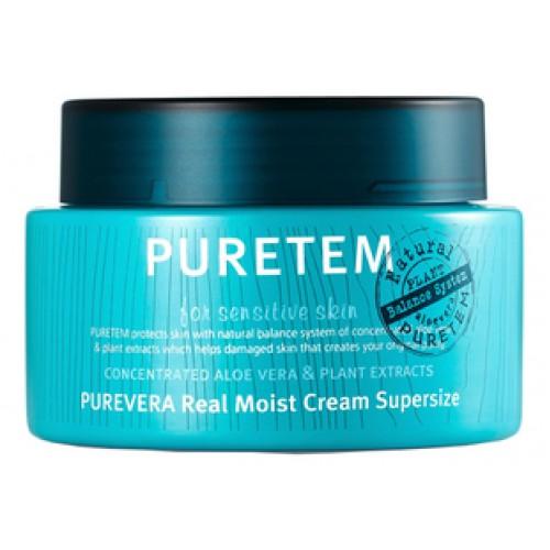 Крем для лица и шеи с экстрактом алоэ вера Puretem Purevera Real Moist Cream Super Size